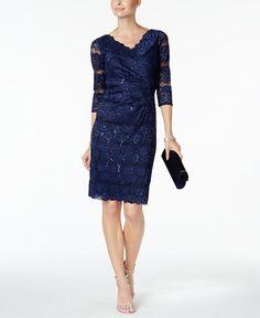 Jessica Howard Sequin-Lace Sheath Dress
