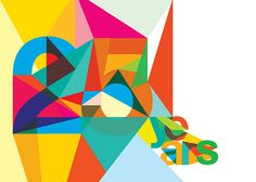 Exciting visual where type is generated from the use of shape and colour. Interesting concept.