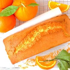 Orange Loaf Cake - A perfect treat for a coffee/tea break and absolutely delicious when butter with jam or honey are spread over. Super easy recipe   happyfoodstube.com