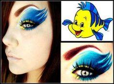 """Beautiful """"flounder"""" inspired makeup."""