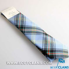 Clan Bell Tie in Riever Weight Wool Tartan
