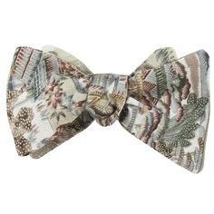 BANDARI VINTAGE KUMORI FLORAL MONARCH BOW TIE WITH POCKET SQUARE Silk Bow Ties, Bow Tie Wedding, Pocket Square, Classic, Floral, Pattern, Handmade, Vintage, Derby