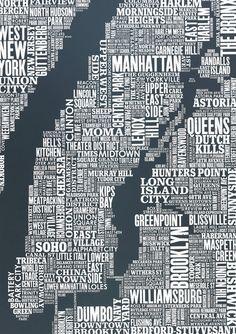 New York City Map @ Hello Polly