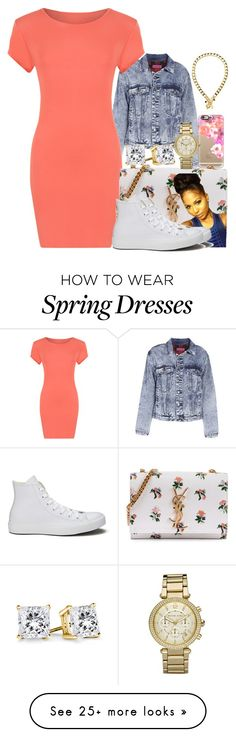 """""""A lil bit dress down"""" by basnightshine1015 on Polyvore featuring Boohoo, Casetify, WearAll, Yves Saint Laurent, Michael Kors, Converse and Juicy Couture"""