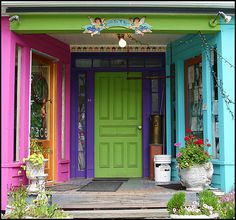 I want this so very very much.  I want a home FULL of bright colors.
