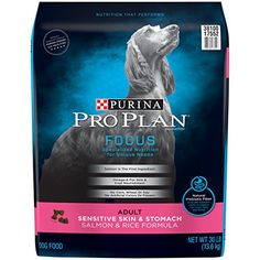 Purina Pro Plan FOCUS Focus Adult Sensitive Skin  Stomach Salmon  Rice Formula Adult Dry Food  1 30 lb Bag ** undefined #DogSuppliess