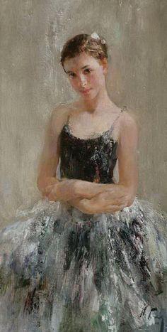 """""""Marina"""" oil on linen, 2009. By Russian painter NIKOLAY BLOKHIN. #ballerina"""