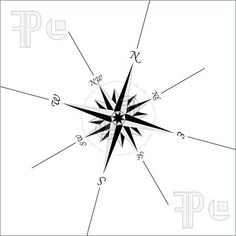 Compass Rose Illustration. Stock Vector at FeaturePics.