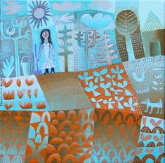 Hilke MacIntyre - Gardening in Spring, acrylic on canvas