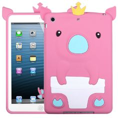 Pink Pig (Crown) Pastel Skin Cover for iPad mini