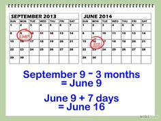 How to calculate Estimated Due Date  Naegael's Rule (First day of Last Menstral Period -3 months + 7 days)