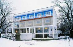 Arne Korsmo: Villa Stenersen, Oslo. Features circular garage so Stenersen would avoid reversing his car.
