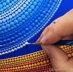 Fascinating Pointillism Paintings by Australian Artist Elspeth McLean