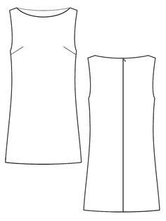 60s monochrome shift dress – FREE SEWING PATTERN