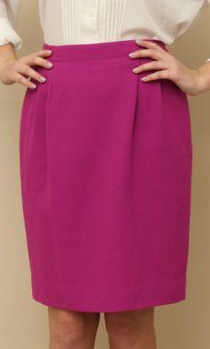 pink skirt Work Wear Office, Magenta, High Waisted Skirt, Dressing, Colour, Wool, Trending Outfits, Skirts, Pink
