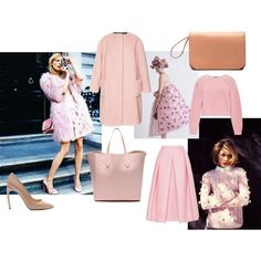 """""""The palest pinks and prettiest peaches"""" by modaoperandi on Polyvore"""