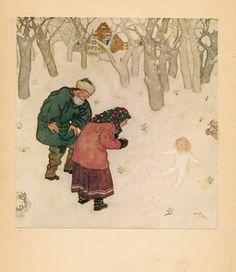Het sneeuwmeisje. Een Russisch sprookje.