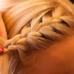 Blonde Wicker Hair French braid (: by @ahhfashion  #blonde #hair #braid  pinned by wickerparadise.com