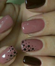 Fabulous Pink and Blood Red Dotted Nail Art Designs .- Fabulous pink and blood red dotted nail art designs nail art -