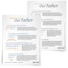 Download a Reflection on the Our Father and use it in your parish or home as a way to open up the prayer that Jesus gave to us. www.SadlierReligion.com #Catholic #Catholics #Father #Prayer #Reflection
