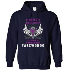 Never Underestimate A Woman With Taekwondo - #mens dress shirts #work shirt. BUY NOW => https://www.sunfrog.com/LifeStyle/Never-Underestimate-A-Woman-With-Taekwondo-NavyBlue-18413422-Hoodie.html?60505