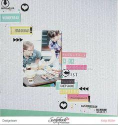 #papercraft #scrapbook #layout.  Scrapbooking Layout mit FRIDA von Janna Werner - vom Design Team der Scrapbook Werkstatt