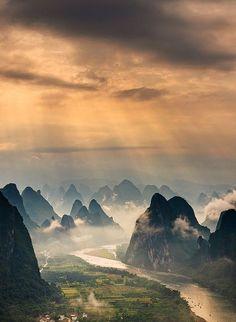 Espectacular fotografía de Guilin en China.