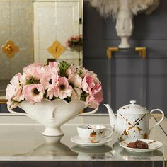Buy the Giuliette Porcelain Urn - White - Small from Jonathan Adler at AMARA. Small Urns, Pieces Of Eight, Urn Vase, Porcelain Dinnerware, How To Make Tea, Jonathan Adler, White Vases, Plate Sets, White Porcelain