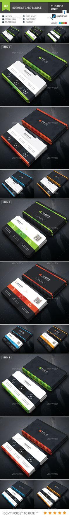 Professional Business Card Bundle - Template PSD