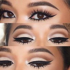 Gold Glitter Lower Lash Line Makeup Idea