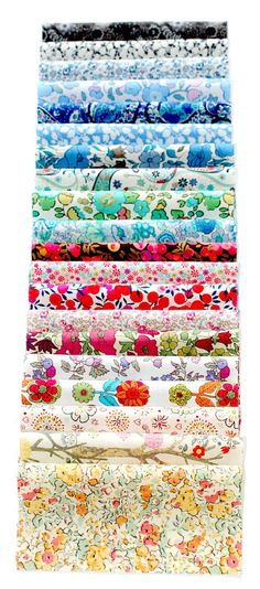 Liberty Fabric Charm Squares 5 inch Tana Lawn Fabric Pieces. #bloom #pinparty