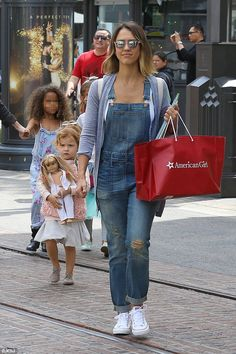 Jessica Alba takes daughters Honor and Haven to doll shop in West Hollywood | Daily Mail Online
