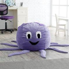 Jaxx Octopus Critter Foam Bean Bag Chair contemporary kids chairs