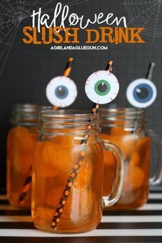 halloween slush drink with fun eyeball printables