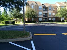 Recent Sealcoating and Line Striping Job by our ABC Paving & Sealcoating Team! #ParkingLotMaintenance #ADACompliance
