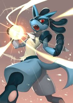 Lucario's favorite and most well known attacks: Aura sphere!!!!! :D