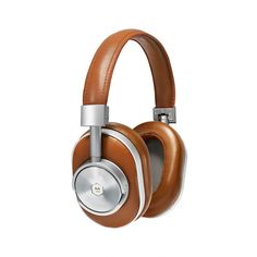 Master & Dynamic MW60 Wireless Headphones ($690) ❤ liked on Polyvore featuring accessories, tech accessories and brown