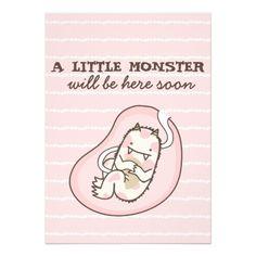 Little Monster Baby Shower Invitation (girl)