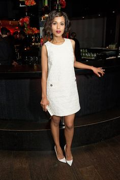 The 50 Best Little White Dresses: Kerry Washington in Dolce & Gabbana
