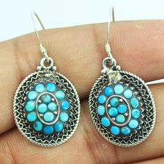 Turquoise Sterling Silver Earrings – Jewels Exports