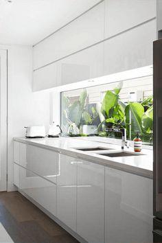 Lindas ideias de Backsplash de vidro na Cozinha - Decostore