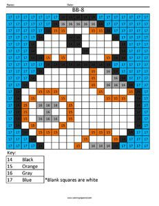 BB8- Color by Number- Star Wars