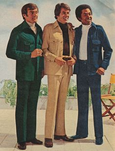 Leisure Suit- The 70's was the decade of the leisure suit, it consisted of a shirt-like jacket and had matching pants.