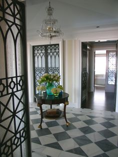 black and white floors Frank Roop design