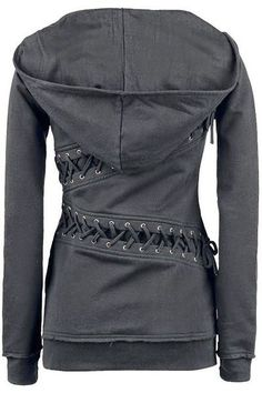 Back Lace-Up Slim Womens Hoodie Look at the hood on that! I so want this!