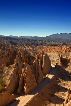 The landscape in Salta, Argentina.