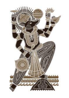 Hinduism - Vishnu avatar (dashavatara) #3 - Varaha, the boar that rescues the Earth and kills Hiranyaksha.