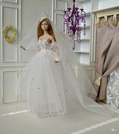 Barbie Bridal, Barbie Wedding Dress, Barbie Gowns, Barbie Dress, Barbie Clothes, Bridal Sets, Wedding Sets, Wedding Gowns, Barbie Fashionista