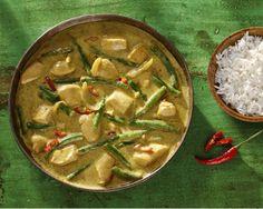 Thaise Groene Curry met kip en sperziebonen