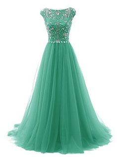 Tideclothes Long Beads Prom Dress Tulle Cap Sleeves Evening Dress Green US2 Tideclothes http://www.amazon.com/dp/B017VZDTA4/ref=cm_sw_r_pi_dp_t.H2wb09FTKFA